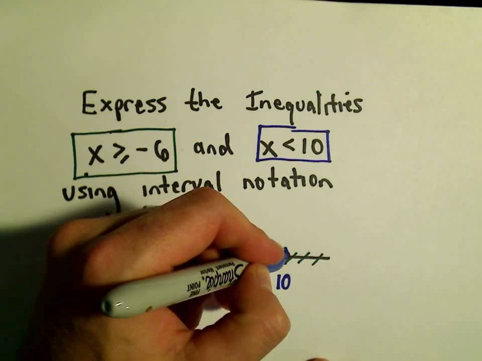 Using Interval Notation To Express Inequalities Example 1 Youtube