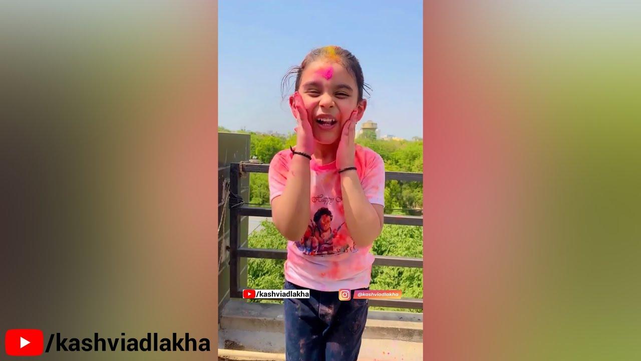 Download Kashvi Ka Holi Wala Dance 😍 #shorts #ShortsParHoli #youtubeshorts #trending | KASHVI ADLAKHA