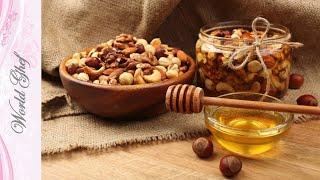 Орехи с медом и сухофруктами для укрепления организма | Рецепт