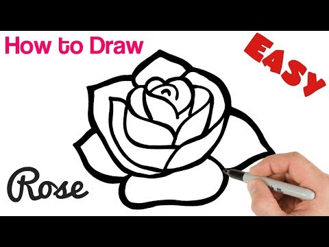 How to Draw a Rose Easy Art Tutorial for Beginners