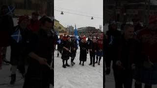 Scottish Kilt Skate/Ribbon Cutting/Bagpipes