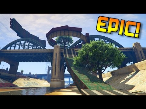 STUNT PARADISE! RACE WITH JUMPS AND STUNTS (with SocialClub Link) GTA 5 Online