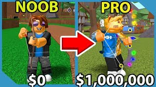 Noob To Pro! $1,000,000 Elemental Bow! Unlocked All Areas! - Roblox Archery Simulator