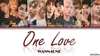 Wanna One – 'One Love' (묻고싶다) [Han/Rom/Indo] Color Coded Lyrics Sub Indo