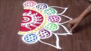 half circle sanskar bharti rangoli designs