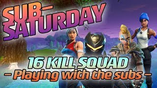 16 KILL SQUAD CLUTCH VICTORY - Playing with Subs! - Loeya Battle Fortnite Royale Gameplay