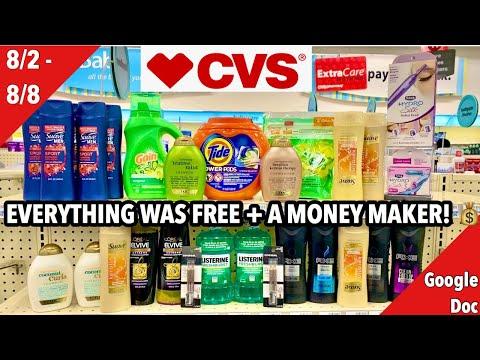 CVS Free & Cheap Coupon Deals & Haul | 8/2 - 8/8 | 30 Items For FREE + A Money Maker! 🔥🙌🏽