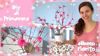 Diy di primavera/decorazioni di primavera/albero fiorito di rami e carta crespa