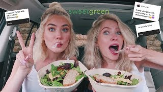 SWEETGREEN MUKBANG & answering assumptions about us! *ft. my sister*