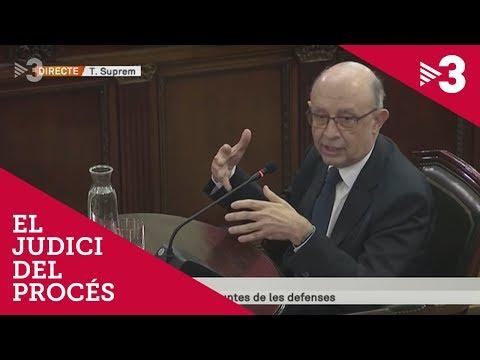 Judici del procés - Declaració de Cristóbal Montoro 27/02/2019