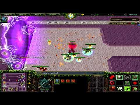 Warcraft 3 | Custom Hero Line War | Crazy Serpent Ward Build | This Is Too Easy