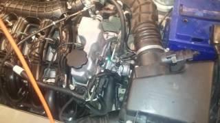 Работа двигателя 21126 после небольшого прогрева