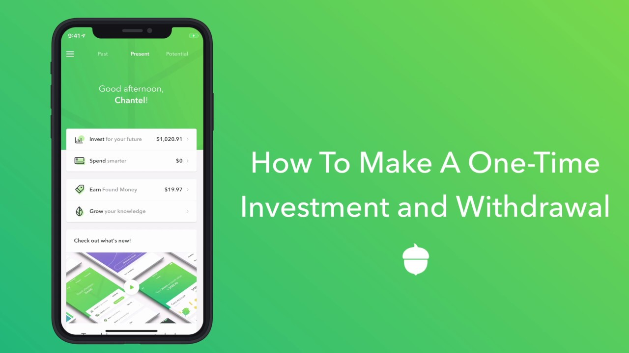 How do I add funds to my investment portfolio? | Acorns
