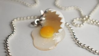 Broken Egg Tutorial, Miniature Food Tutorial, Polymer Clay