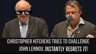Christopher Hitchens tries to debate John Lennox, gets DESTROYED!