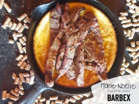 Recette BBQ Crêpe et orignal, fumés BARBEX - granules bois de chêne rouge