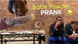 BABY POWDER DONUT PRANK!!!