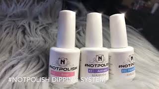 How to create Strawberry using #Notpolish Dip_it System 🔥🔥🔥