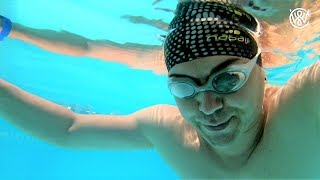From 1:10 to 3:45 min underwater - First time breath hold training with Christian Wedoy