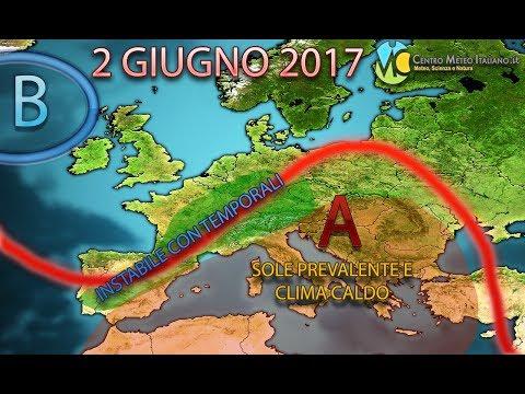 Meteo 2 Giugno 2017, festa della Repubblica