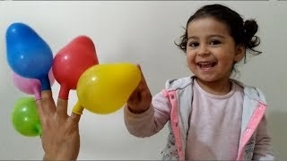 Learn Colors With Finger Family Balloons | Oyuncu Bebe TV