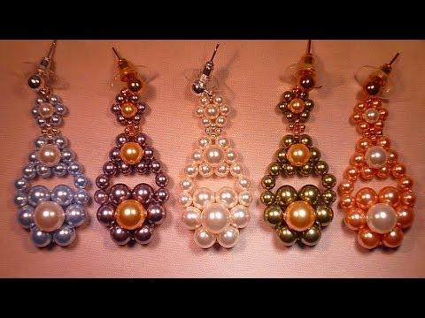 Pendientes de Flamenco Swarovski Beaded Flamenco Earrings Tutorial