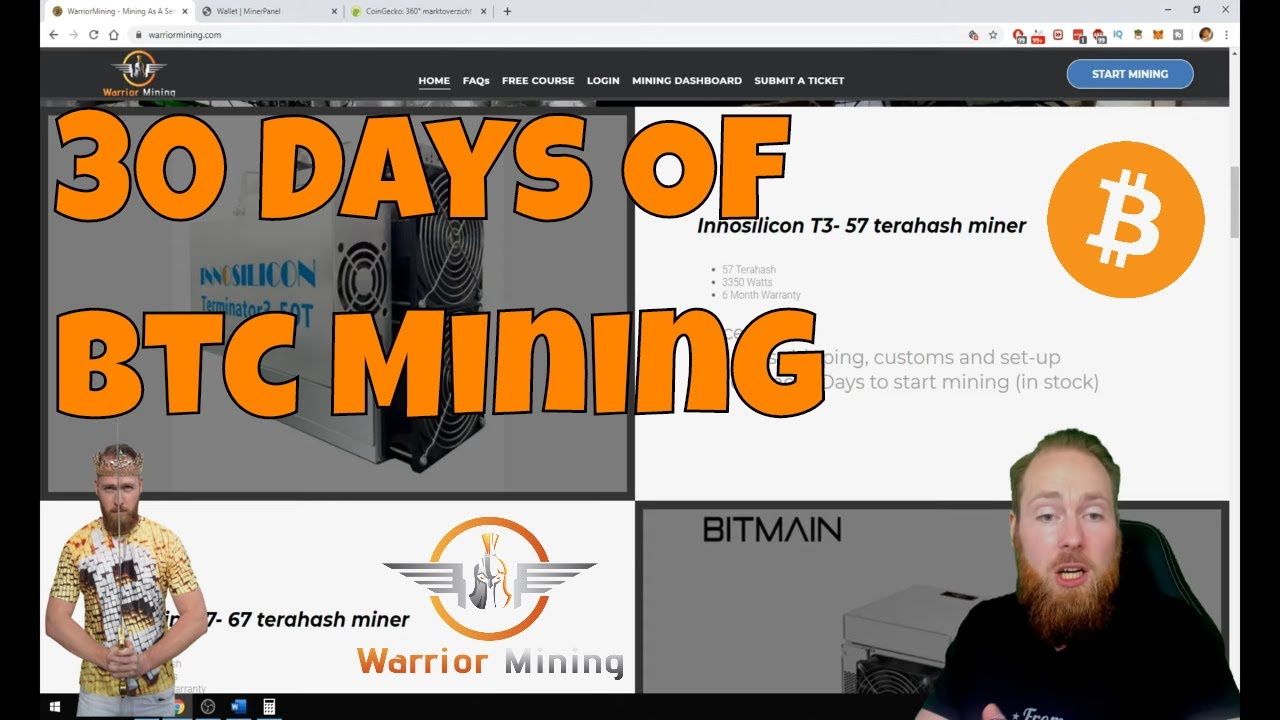 My First Month of Mining Bitcoin at Warrior Mining | Bitcoin Mining Rewards