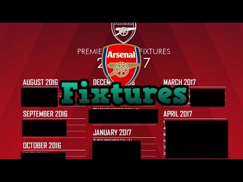 Arsenal's Fixtures 2016/17