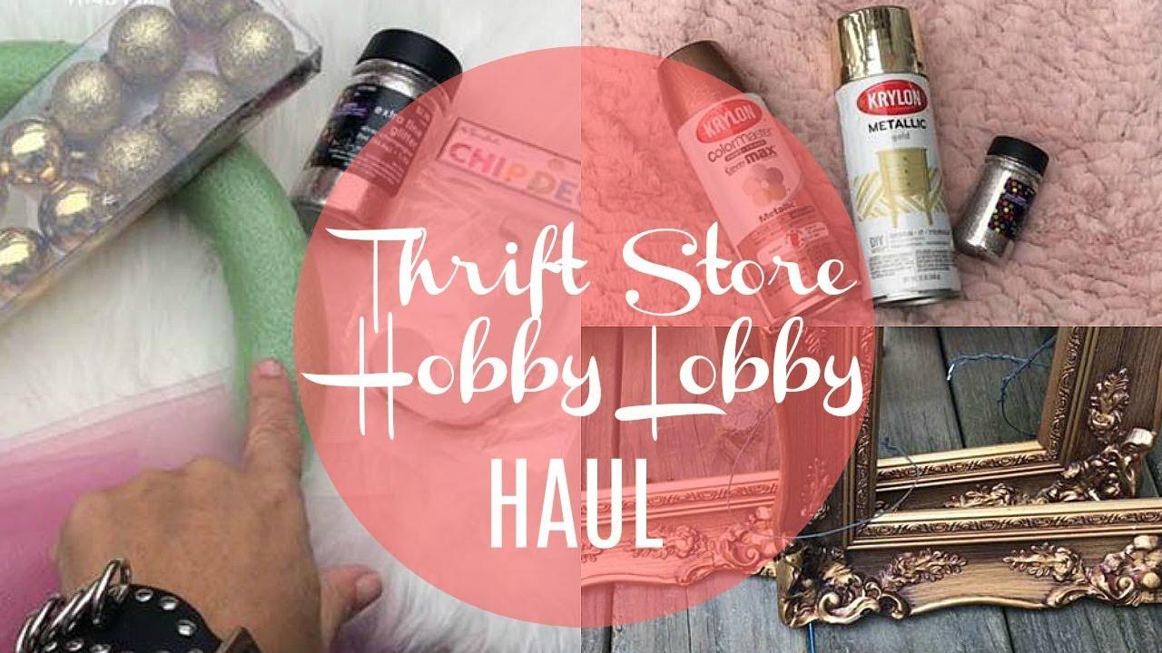 Goodwill And Hobby Lobby Haul Home Decor Upcycle Ideas Youtube