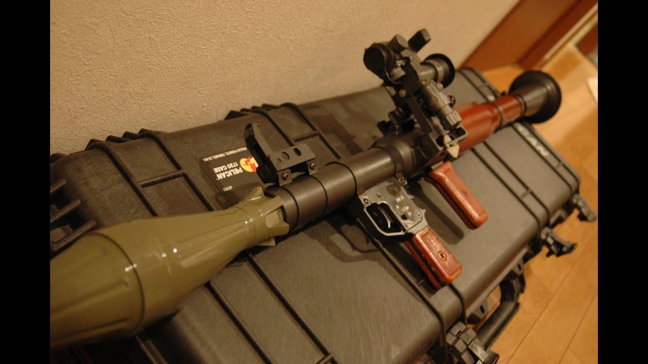 RPG-7をソ連仕様&弾頭が飛ぶようにカスタムした/ RPG-7 Shooting Rocket Launcher