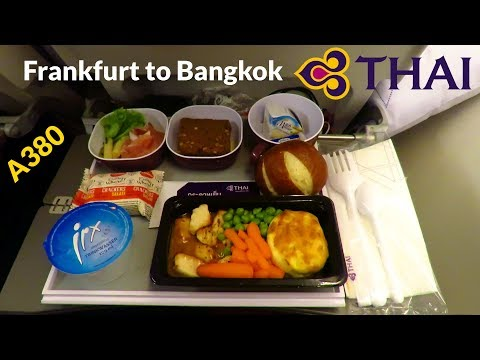 TRIP REPORT | THAI AIRWAYS A380 (ECONOMY) | Frankfurt to Bangkok | FULL FLIGHT [Full HD]