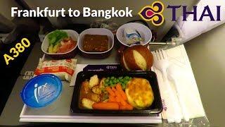 TRIP REPORT | THAI AIRWAYS A380 (ECONOMY) | Frankfurt to Bangkok | FULL FLIGHT [Full HD]