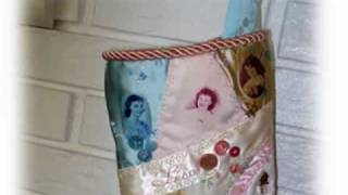 Family History Christmas Stocking Project - Crazy Quilting Part 1