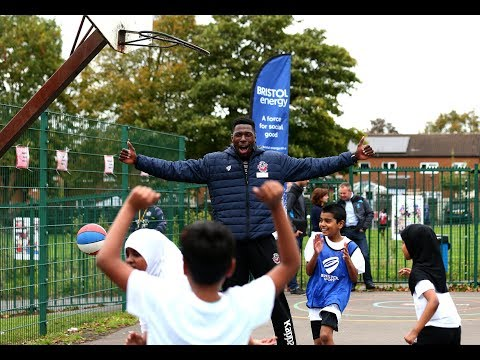Community: Bristol Sport stars pitch in to celebrate community partnership