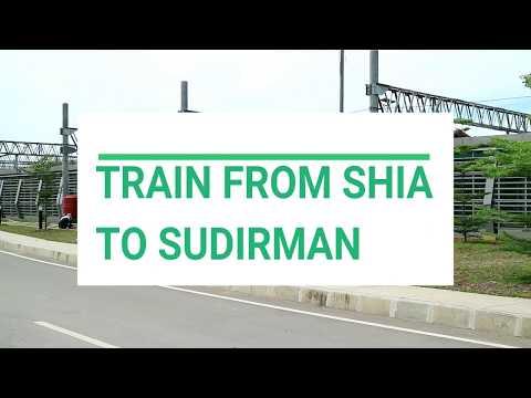 Soekarno Hatta Airport Train From SHIA to Sudirman Baru (BNI City)