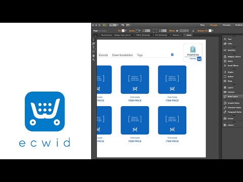Ecwid Ecommerce & Shopping Cart in Adobe Muse - FREE Widget by MuseThemes.com