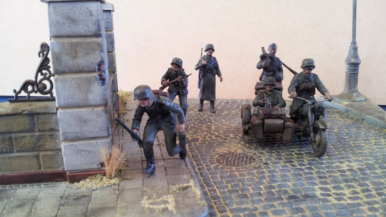 German Infantry Diorama 1 35 Youtube