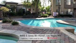 4400 S Jones Blv #2067, 1 bedroom upstairs condo for rent in Las Vegas NV 89103