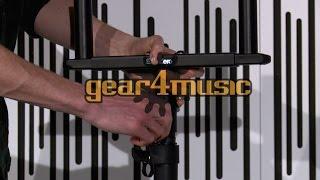 Adjustable Twin Speaker Crossbar Stand by Gear4music