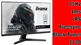 iilyama BLACK HAWK G-MASTER G2440HSU-B1 - 75Hz, 1ms, IPS, Freesync, Black Tuner for £130???