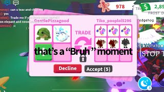 Roblox Adopt me trading video | My sister will determine my trades 🐇🐢  with my 🐕 , Breezy sneezing