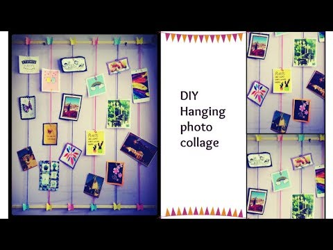 Diy Hanging Photo Collage Polaroid Display Photo Wall