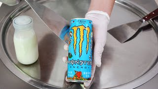 ASMR-Monster Ice Cream Rolls   satisfying tapping ear to ear tingles 먹방 mukbang - no talking