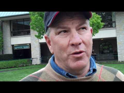Trainer Charlie Lopresti on Turralure in Maker's 46 Mile
