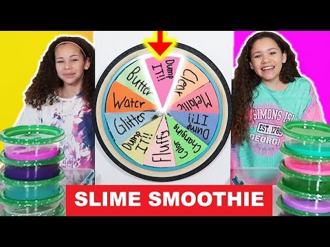 Mystery Wheel of DUMP IT Slime Smoothie Challenge!!!