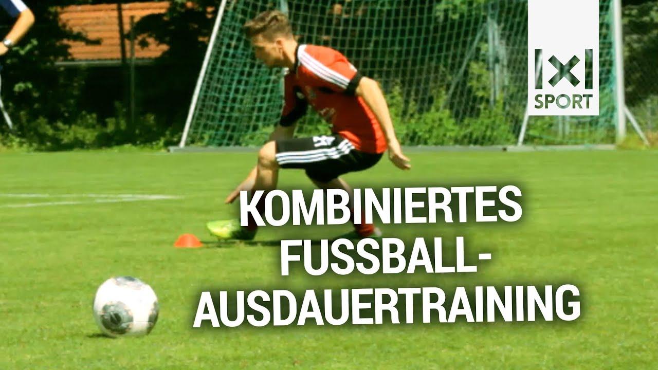 Kombiniertes Fussball Ausdauertraining Ausdauerubungen Mit Ball Im Mannschaftstraining Trailer