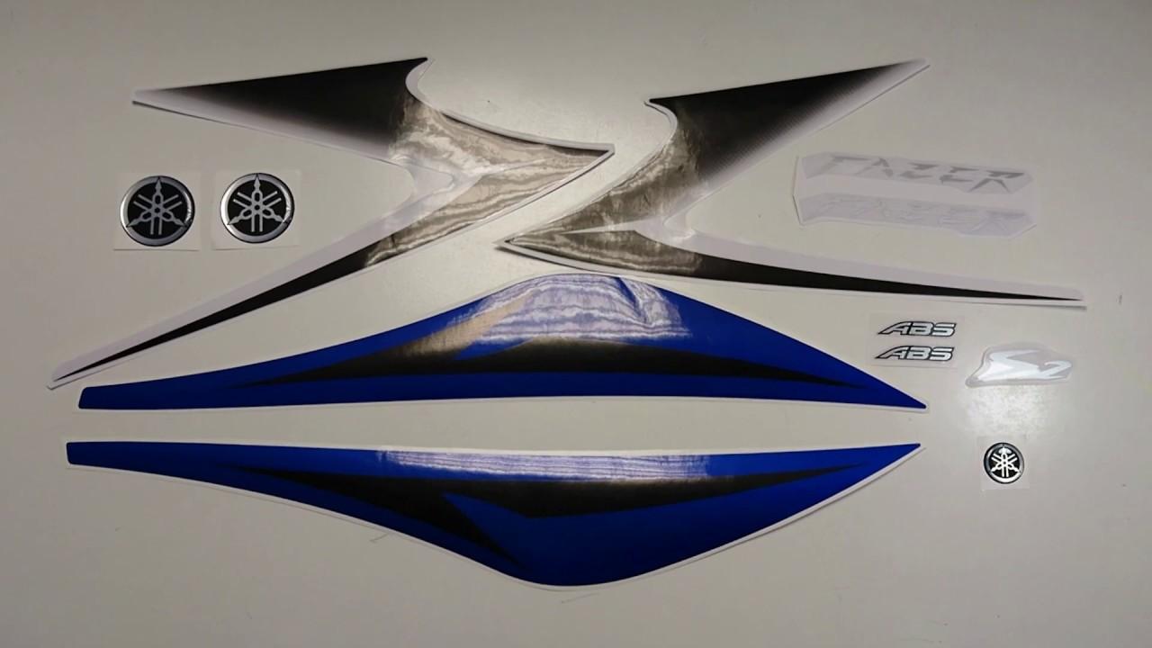 Yamaha Fz6 Fazer 2007 Blue Motorcycle Stickers Aufkleber Decals Naklejki Na Motocykle Fooqs