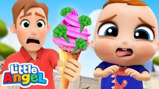 Do You Like Broccoli Ice Cream? | Yucky Song! | Little Angel Kids Songs & Nursery Rhymes