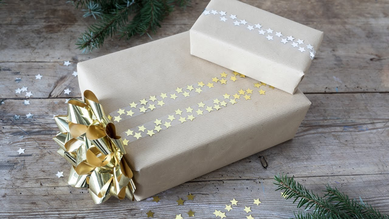 DIY : Gift-wrapping idea with glitter by Søstrene Grene - YouTube