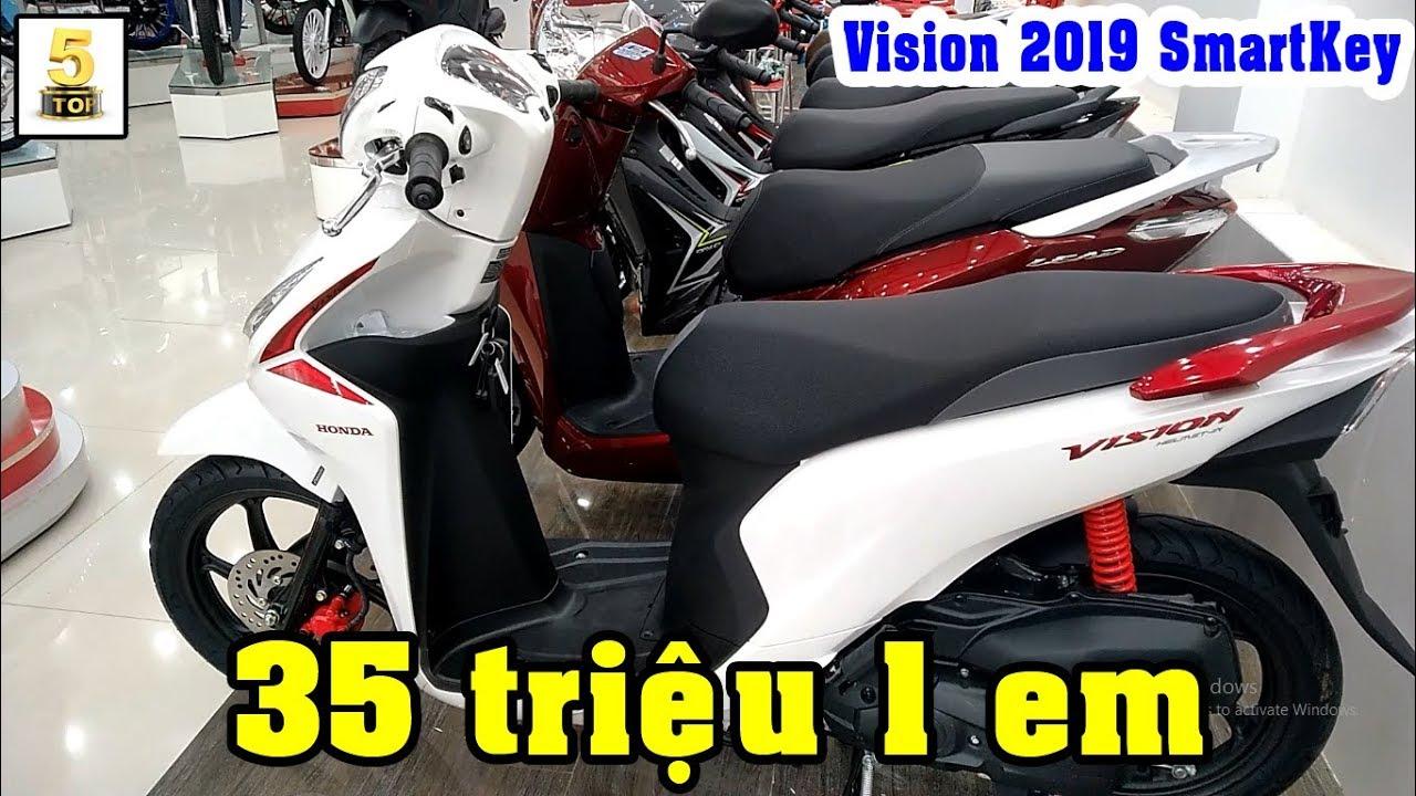 Honda #Vision 2019 Smartkey ▶️ Chiếc xe Honda Vision 2019 Smartkey mới về đại lý 🔴 TOP 5 ĐAM MÊ
